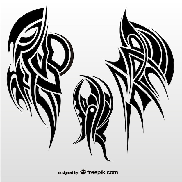 Tribal abstract wings Vector | Free Download