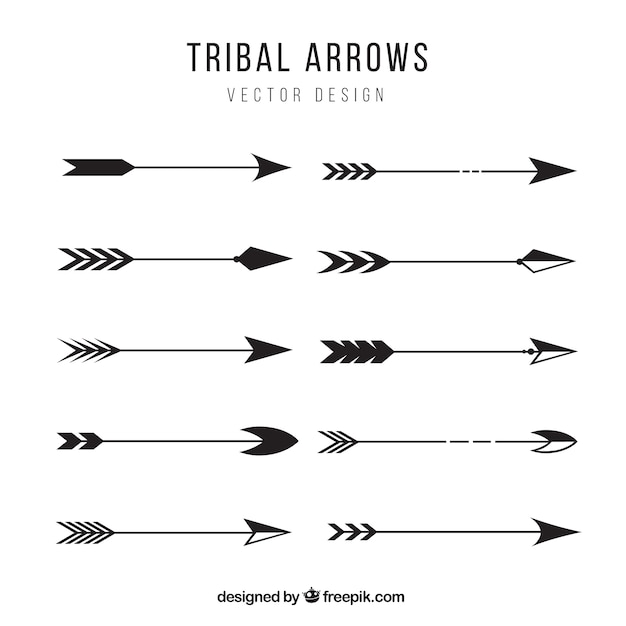tribal arrows collection vector premium download rh freepik com tribal arrow vector free Indian Arrow Vector