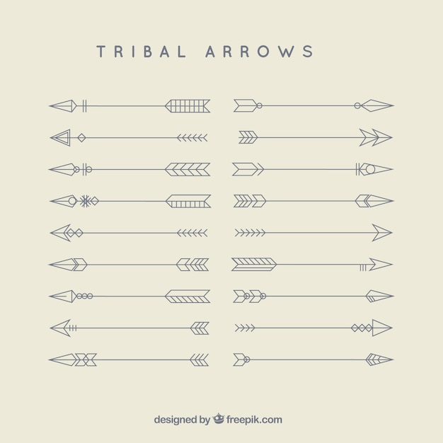 tribal arrows vector free download rh freepik com Indian Arrow Vector tribal arrow vector free