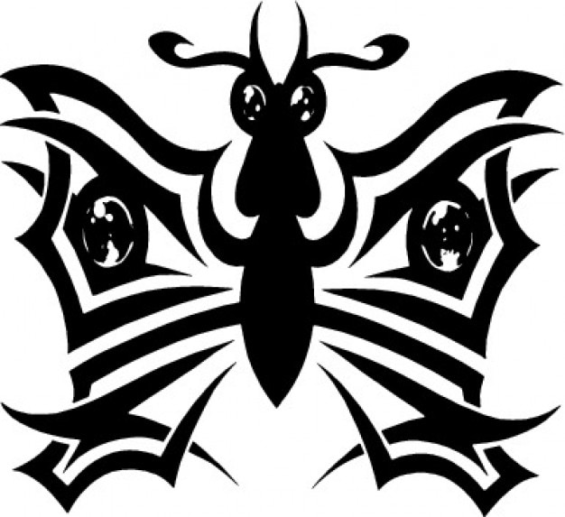 Tribal butterfly decorative icon vector Vector | Free Download