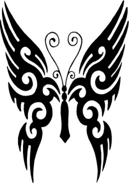 Tribal butterfly tattoo Vector | Free Download