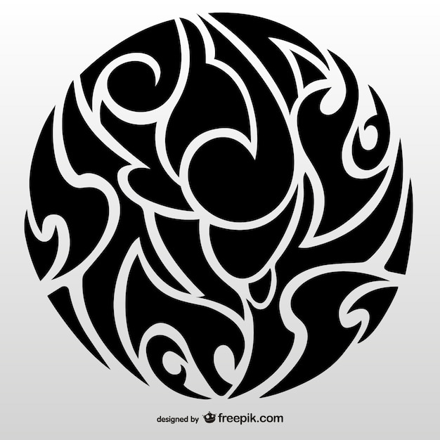 tribal circle tattoo art vector free download. Black Bedroom Furniture Sets. Home Design Ideas