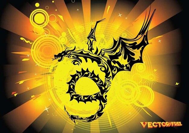 Tribal Dragon Vector Vector