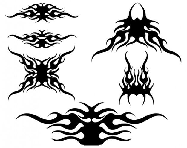 tribal flames vector design vector free download. Black Bedroom Furniture Sets. Home Design Ideas