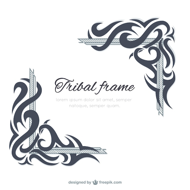tribal frame template vector premium download
