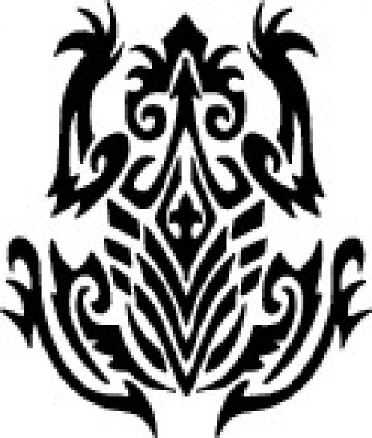 tribal frog top view design vector free download rh freepik com Tribal Frog Tattoo Designs Black and White Tribal Frog