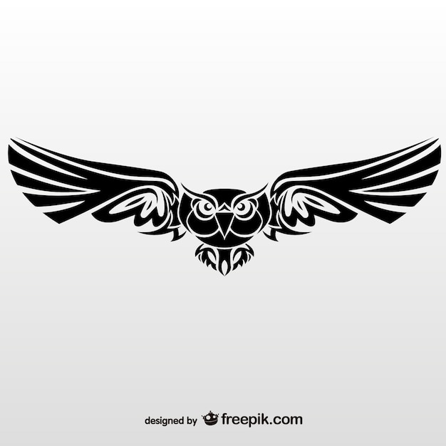 Tribal owl Free Vector