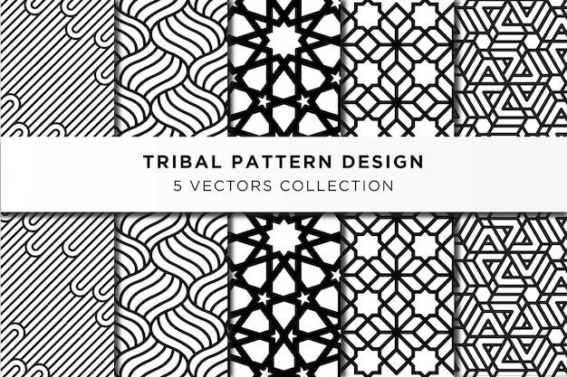 Tribal pattern design collection Premium Vector