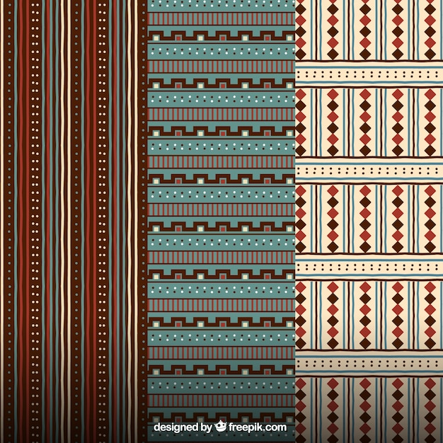 Tribal patterns Free Vector
