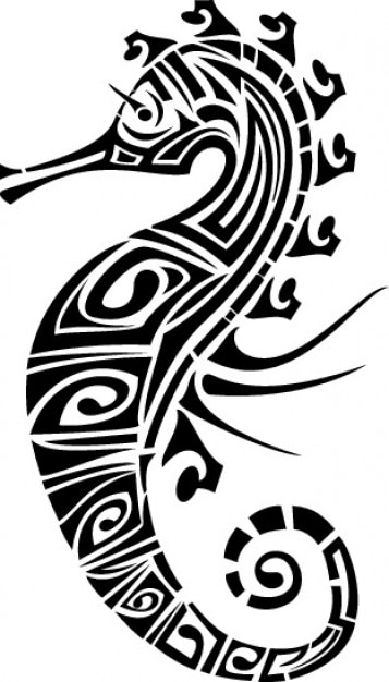 ac895c050 Tribal seahorse Vector | Free Download