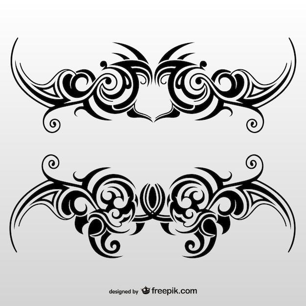 tribal tattoo art set vector free download. Black Bedroom Furniture Sets. Home Design Ideas