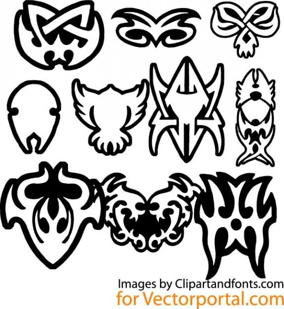 tribal tattoo design elements vector vector free download. Black Bedroom Furniture Sets. Home Design Ideas