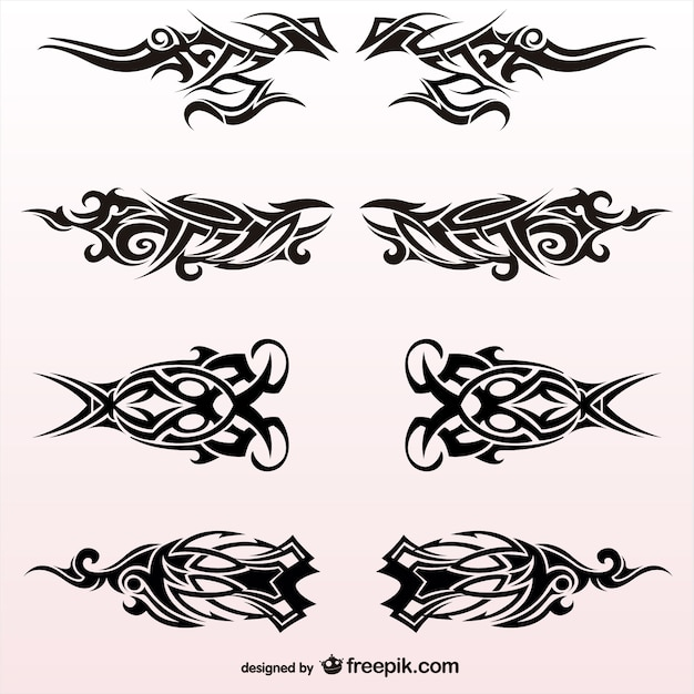 Tribal Gun Tattoos Designs