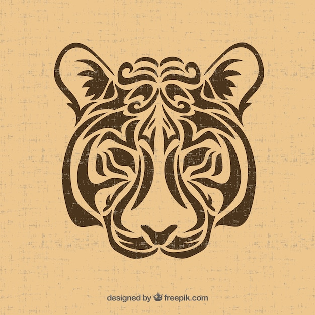 tribal tiger vector vector free download