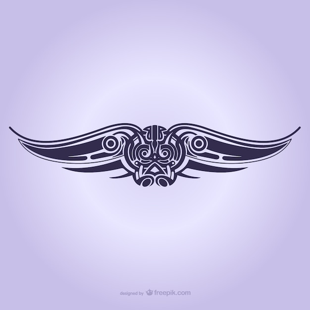 Tribal wings ornament tattoo Vector | Free Download
