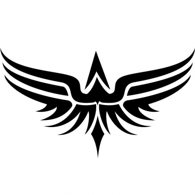 tribal wings tattoo vector clip art vector free download rh freepik com tribal vector art tribal vector eps