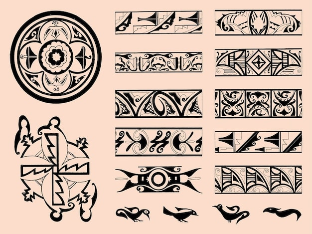 Tribals ornament of the zuñi Free Vector