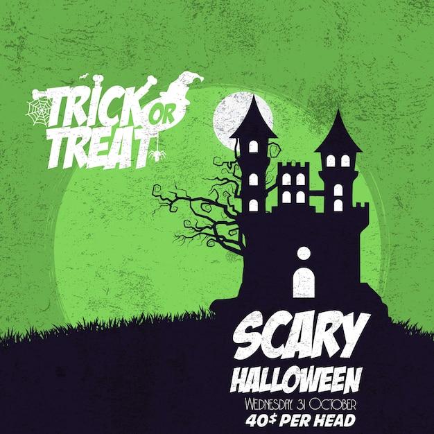 Trick or teat happy halloween Free Vector