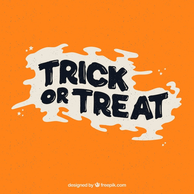 Trick or treat writing in vintage style Free Vector