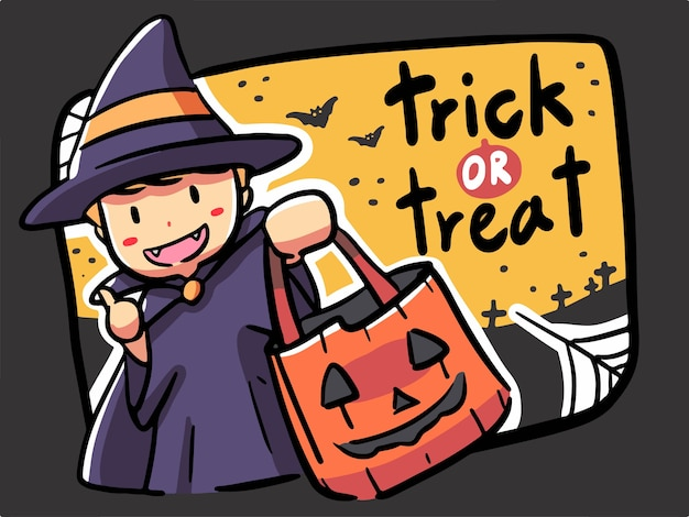 Trick or treat Premium Vector