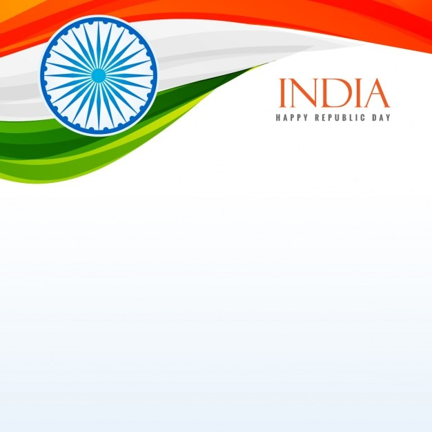 Tricolor indian flag background Vector | Free Download