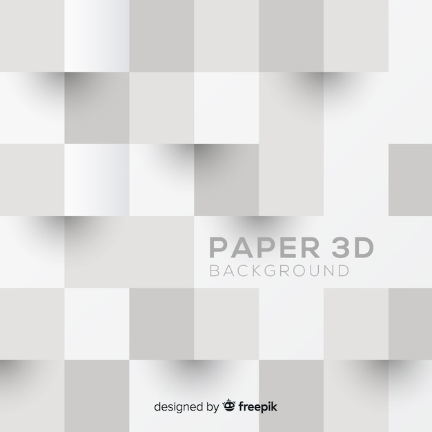 Tridimensional paper style background Free Vector