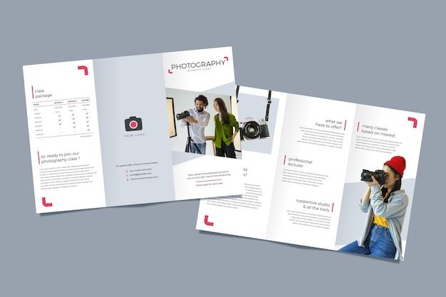 Концепция брошюры trifold Premium векторы