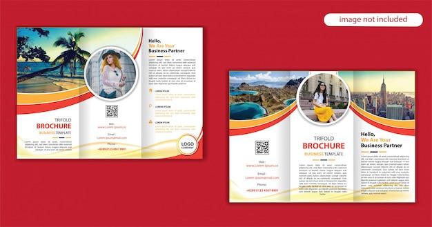 Шаблон брошюры сложения Premium векторы