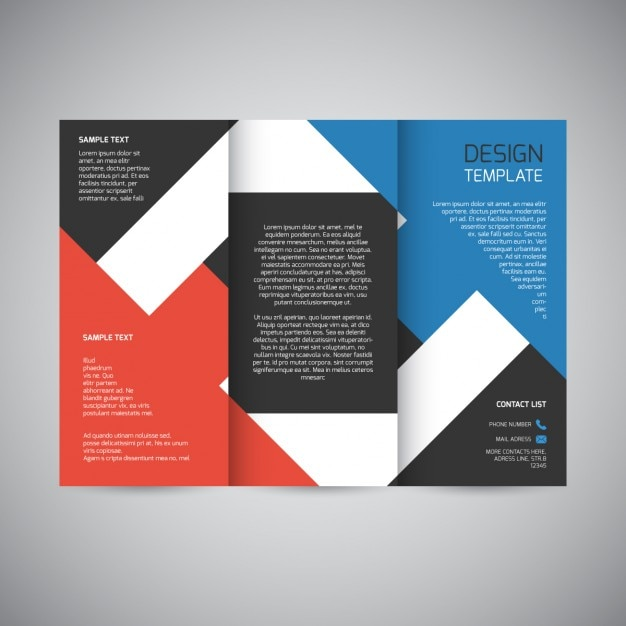 Trifold brochure design vector free download for Typography brochure design