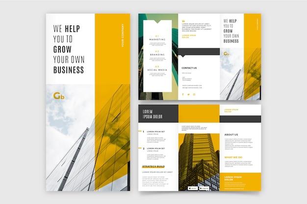 Брошюра trifold развивает собственный бизнес Бесплатные векторы