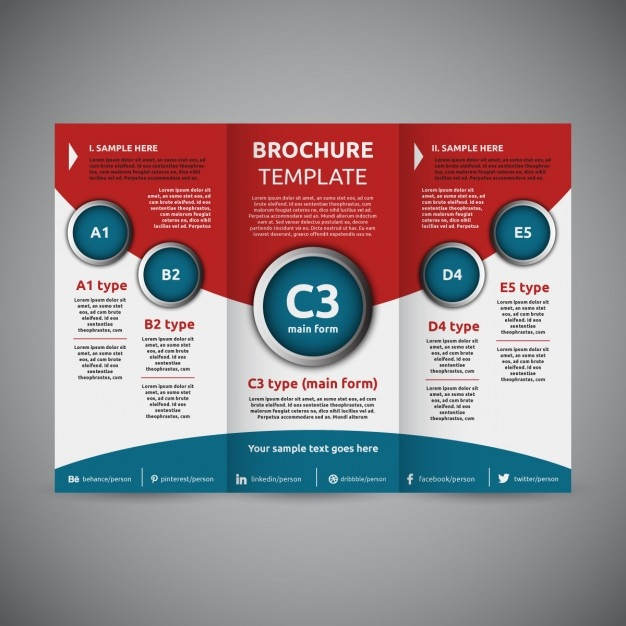 Trifold Brochure Template Vector Free Download - Tri fold brochure design templates