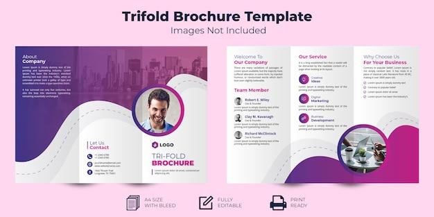 Trifold brochure template Premium Vector