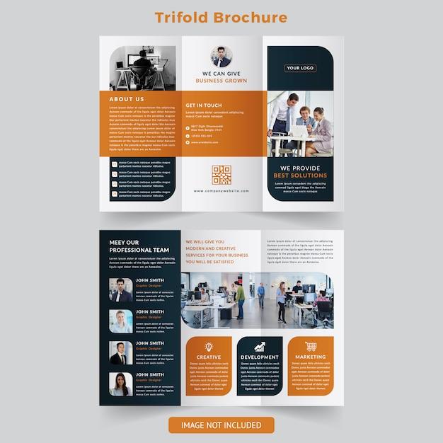Trifold brochure Premium Vector