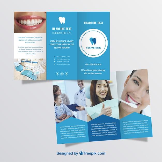 Trifold dentist brochure