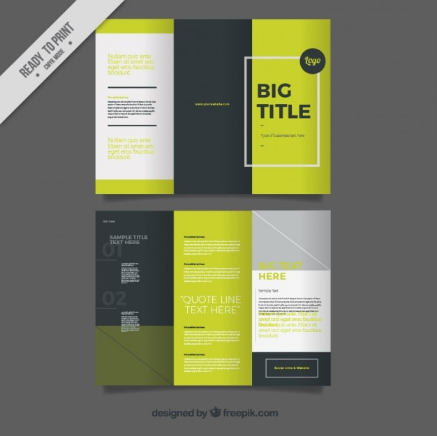 Trifold in modern style Free Vector