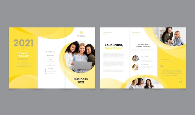 Free Vector Trifold Template Color Of The Year 2021