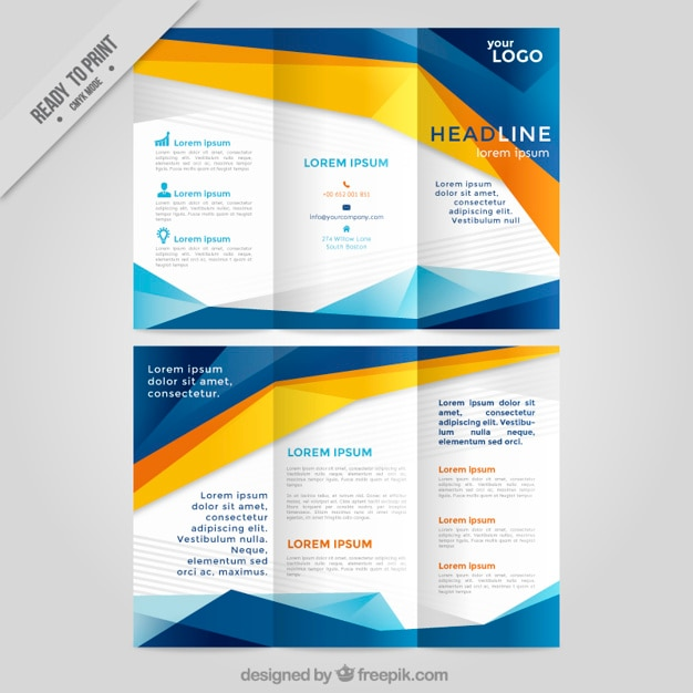 Trifold Brochure Vectors Photos and PSD files – Tri Fold Brochure