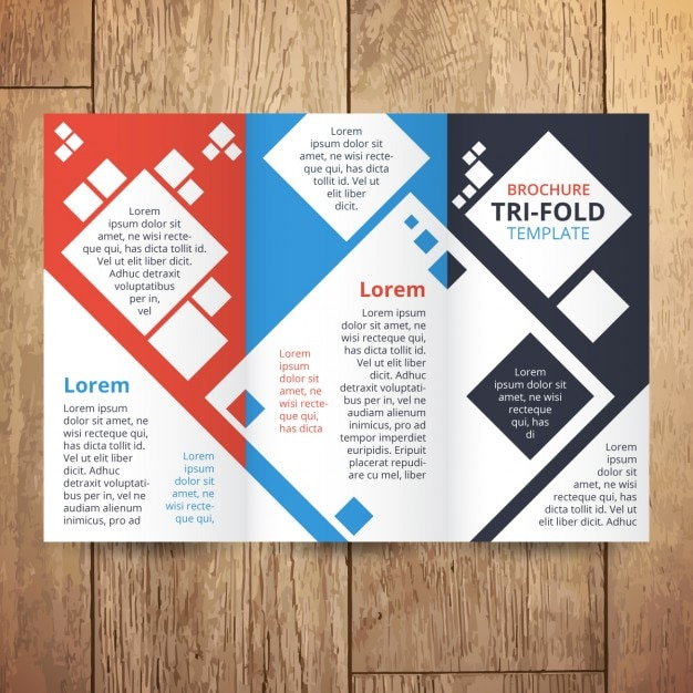 Trifold with squares Free Vector