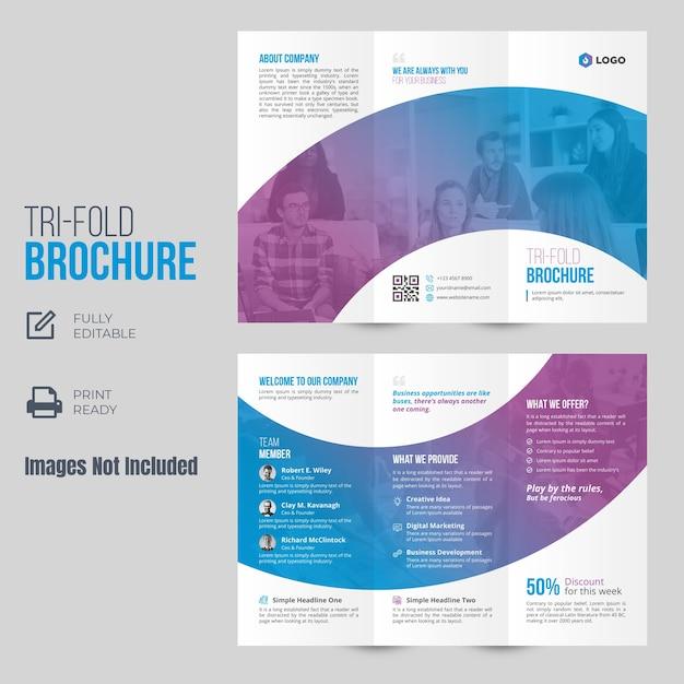 Шаблон брошюры trifold Premium векторы
