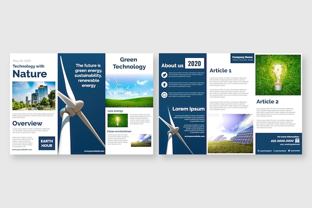 Шаблон брошюры trifold Бесплатные векторы