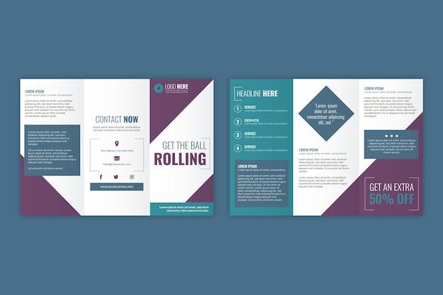 Trifold дизайн шаблона брошюры Бесплатные векторы