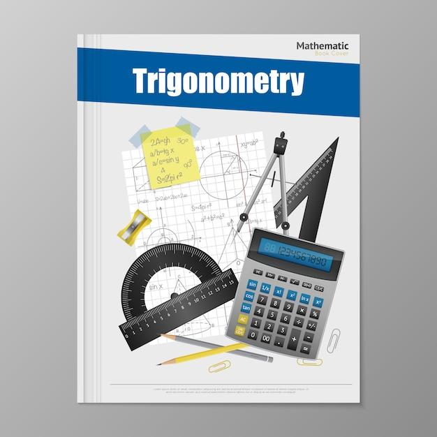 Trigonometry flyer template Free Vector