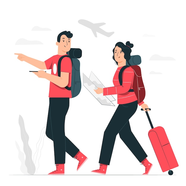 Trip concept illustration Free Vector
