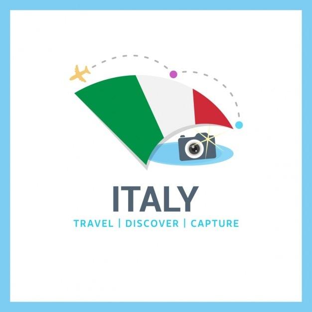 Logo italia viaggi Vettore gratuito