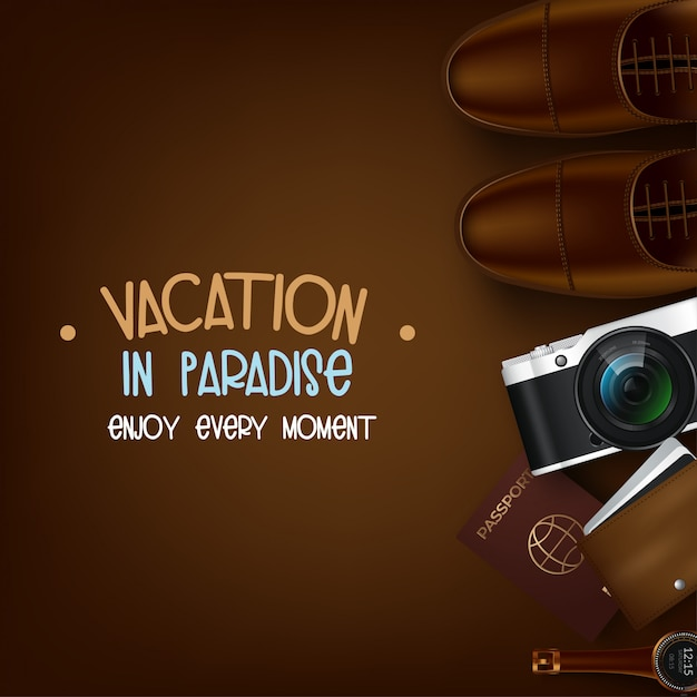 Trip to world. travel to world. vacation. road trip. tourism. open suitcase with landmarks. journey. traveling illustration Premium Vector