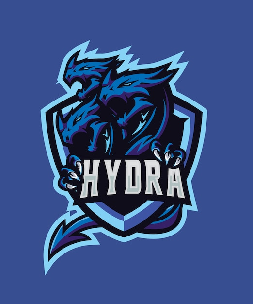 Triple hydra e sports logo Premium Vector