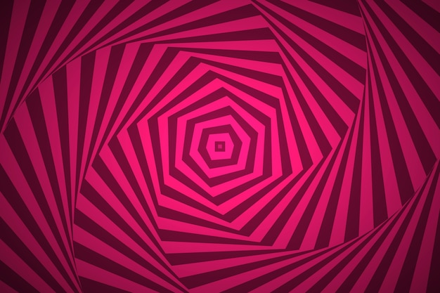 Trippy optical illusion background Free Vector