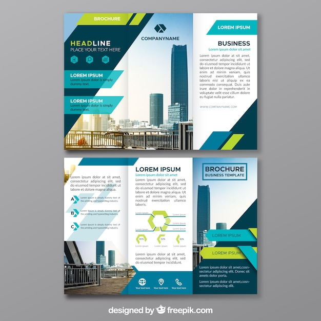 Triptych of abstract business forms Free Vector