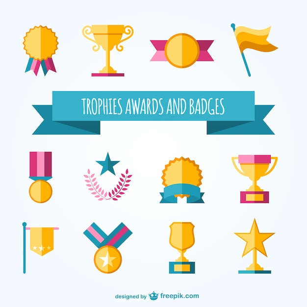 Trophies And Awards Collection Vector