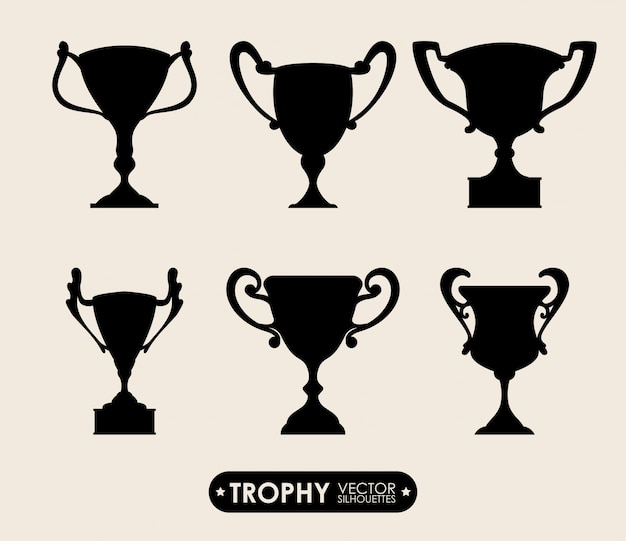 Trophy design Premium Vector